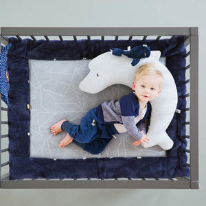 Snoozebaby knuffeltje Wally Whale Midnight Blue