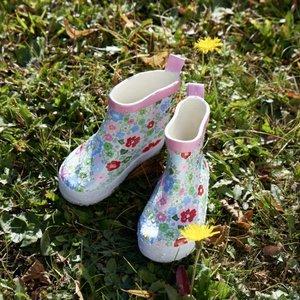 Playshoes Rubberen Regenlaarsjes - Flowers Pink