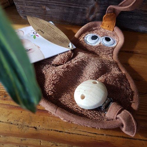 Timboo Bamboe Speenknuffeltje 3-in-1 - Eend Hazel Brown