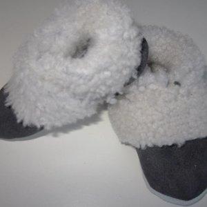 Slofje Lamsleder gevoerd met lamswol
