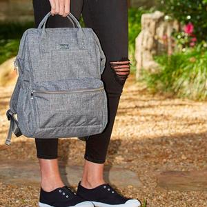 Isoki Backpack Elliot grey melange - Luiertas rugzak