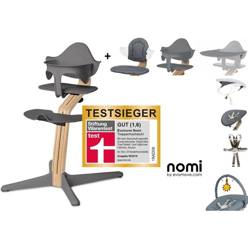 Nomi Zeer complete 2 in 1 Kinderstoel Highchair