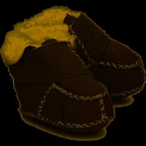 Playshoes Winterslofjes van lamsleder met bont gevoerd GRIJS