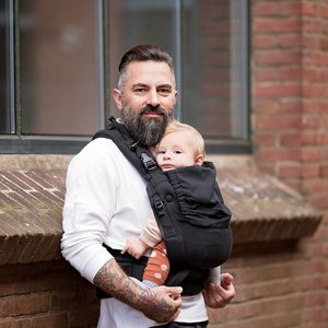 Hoppediz Baby Draagzak Nabaca - Comfort Zwart