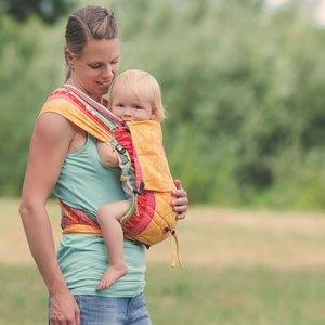 Hoppediz Hop Tye geweven Baby Draagzak - Sunny Mind