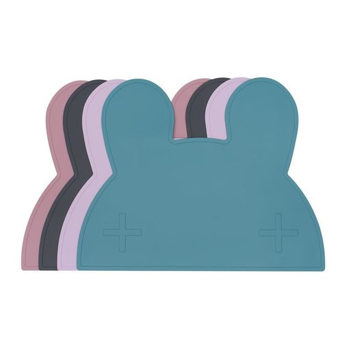 We Might be Tiny Placie Bunny Siliconen Placemat - Blue Dusk