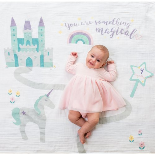 Lulujo Swaddle & Cards - Something Magical