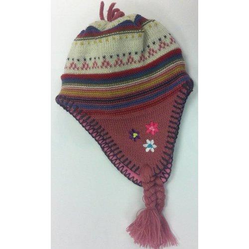 Polka wintermuts met wintermotief