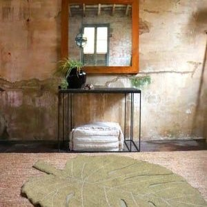 Lorena Canals Monstera Leaf vloerkleed - 120 x 180 cm - Olive