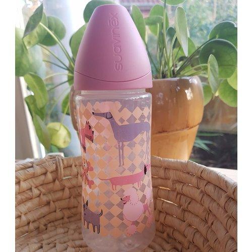 Suavinex Babyfles 360 ml - Dog Pink - Phisio