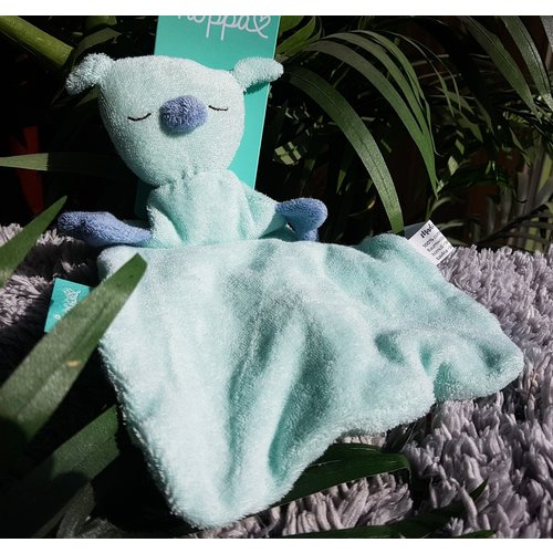 Hoppa Hugo Fresh mint/deep blue - Tutpopje doudou Organic cotton