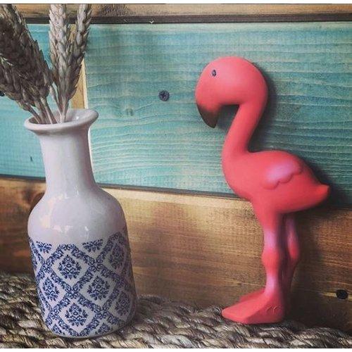 Tikiri Ecologische bijtring Flamingo van Hevea rubber