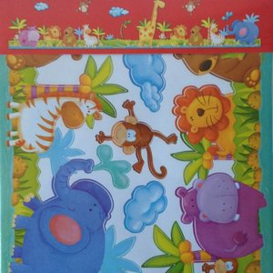 Muurstickerband Dierentuin voor kinderkamer