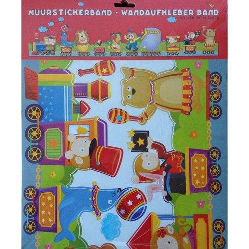 Muurstickerband Circus voor kinderkamer