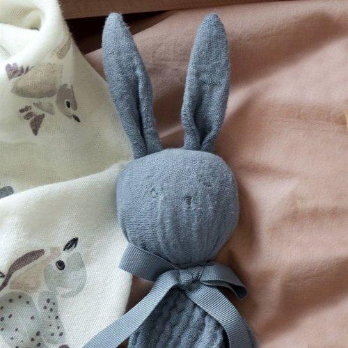 Elodie Details Blinkie Blue knuffeldoekje  - Blauw