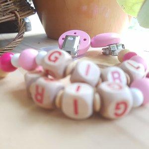Speenkoord  met clip - Girl