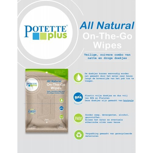 Potette Plus On the go wipes - Doekjes voor onderweg