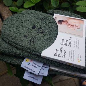 Baby Shower Glove Baby badhandschoen - Extra grip - Green beaver
