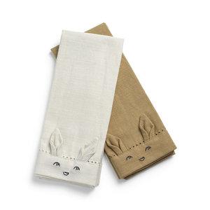 Elodie Details 2 stuks Servetten voor de kleintjes - Lily White/Warm Sand