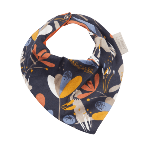 Timboo Cotton bandana slab met drukknopen - Forest