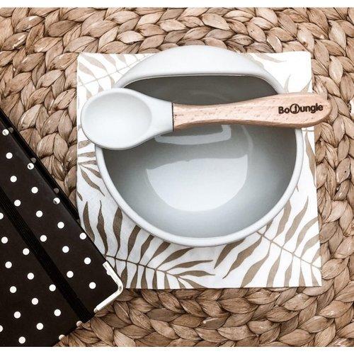 BoJungle B-Suction Bowl & Spoon grey