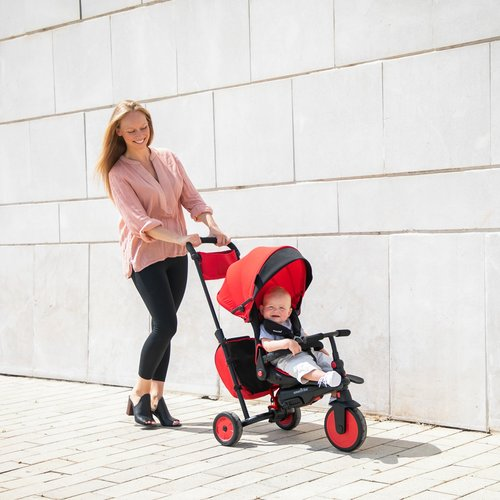 SmarTrike 7 in 1 opvouwbare driewieler - Red STR7J