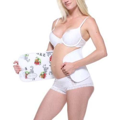 Belly Bandit Couture Belly Wrap Sluitlaken - White Love hears