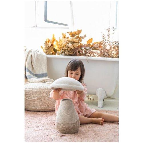 Lorena Canals Basket Baby Mushroom Wood collectie