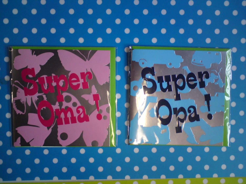 Verwonderend Super oma! - Super opa! - Online Babywinkel De Babykraam KP-96