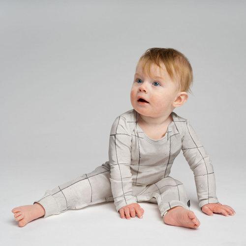 Snurk Bio katoen Babypakje Tiles pearl White