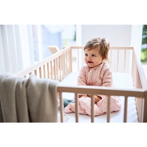 Jollein Baby slaapzak 4 seizoenen - Whales Pale Pink