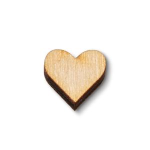 Hippe Kaartjes Cadeaukaartje met houten hartje voor aan je pakje