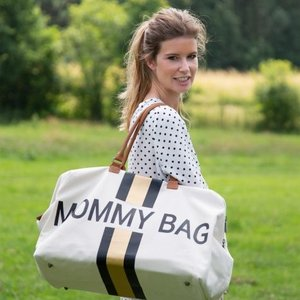 ChildHome Verzorgingstas Mommy Bag White Stripes Black/Gold