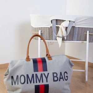 ChildHome Verzorgingstas Mommy Bag Grey Stripes Red/Blue