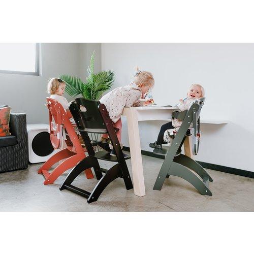 ChildHome Meegroeistoel Lambda 2 Chair met eetblad Zwart