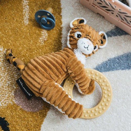 Les Déglingos Bijtspeeltje Baby Speculos de tijger