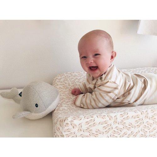 Flow Hartslag Knuffel Moby the Whale met muziek  - Grey