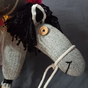 Handgemaakt Stokpaard -  Hannibal the horse