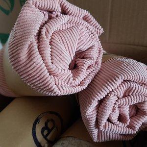 Babywoods Aankleedkussen hoes -  rib poeder roze