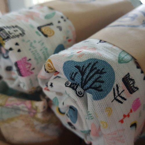 Babywoods Aankleedkussen hoes -  vrolijke beestenbende