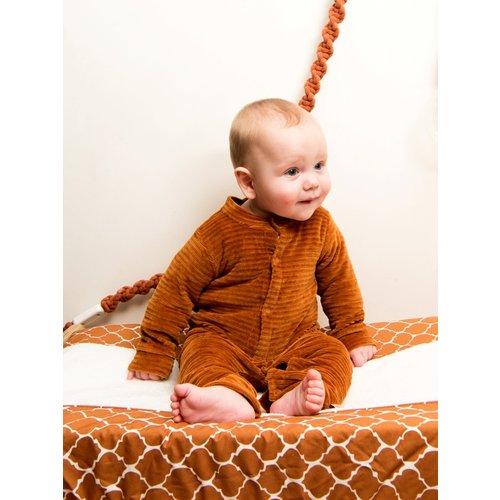 Witlof for Kids Onesie boxpakje ribfluweel - Hazel Brown