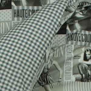 Dekbedovertrek Fashion grijs 1-persoons