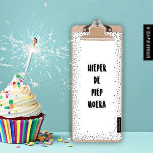 Hippe Kaartjes Verjaarskalender met hip klembord