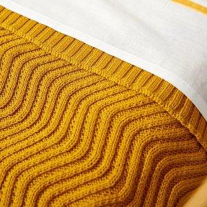 Meyco Wiegdeken Waves Okergeel 75 x 100 cm