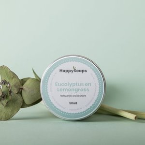 Happy Soaps Natuurlijke Deodorant – Eucalyptus en Lemongrass