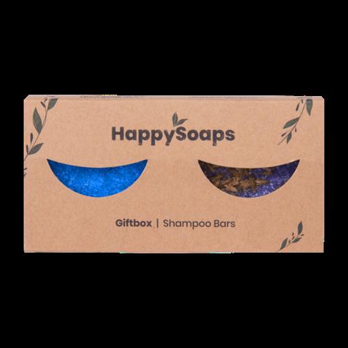 Happy Soaps Happy Giftbox met 2 Shampoo Bars