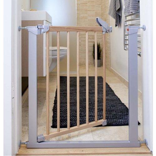 BabyDan Traphekje Tora Gate - klemhek grijs met hout