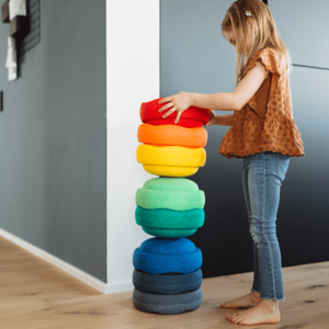 Stapelstein Rainbow | Groot 8 speelblokken