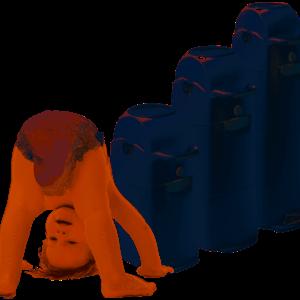 Diaper Champ Silver XL - reukloze luieremmer