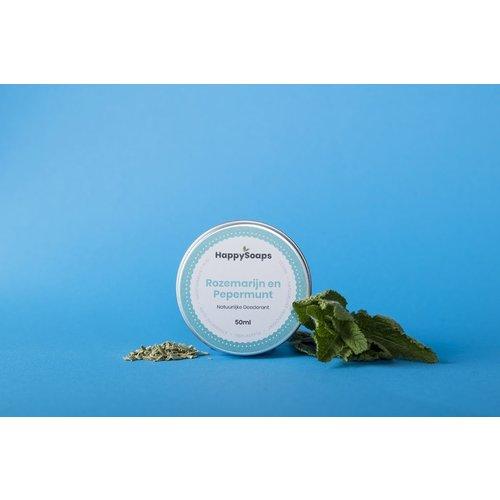 Happy Soaps Natuurlijke Deodorant – Rozemarijn en Pepermunt